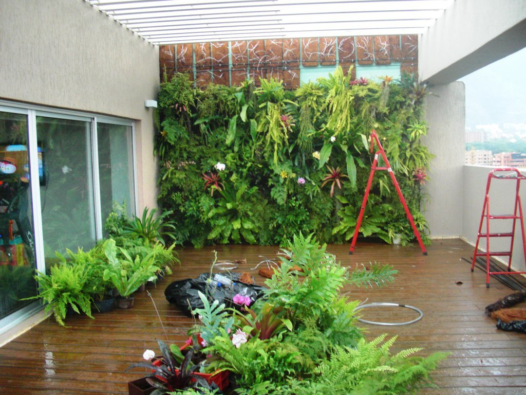 Proyecto y ejecuci n de obra jard n vertical terraza - Jardin vertical terraza ...