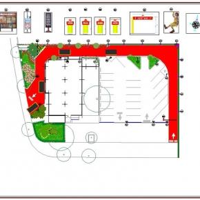 Proyecto de Arquitectura Paisajista Mc Donald's San Bernardino