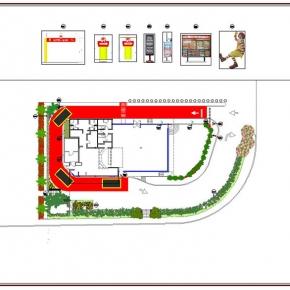 Proyecto de Arquitectura Paisajista Mc Donald's Santa Mónica