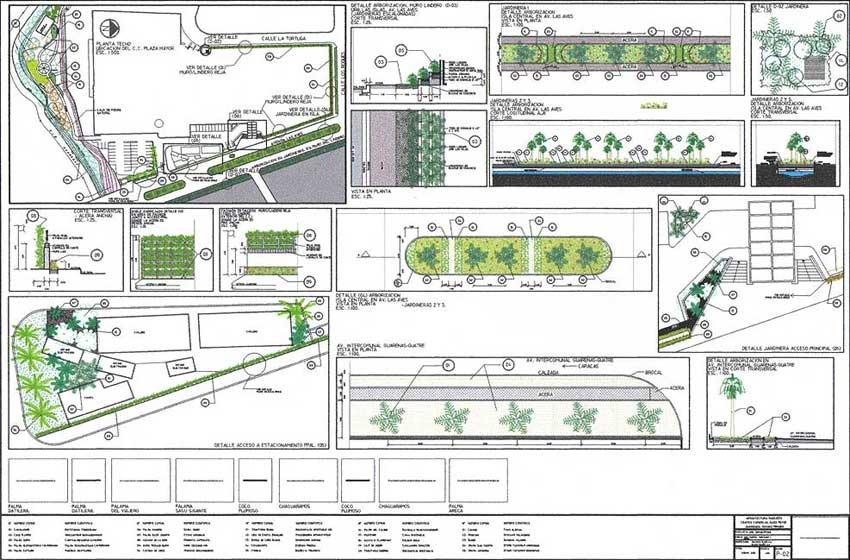 Proyecto jardines ciudad comercial plaza mayor adriana for Arquitectura de jardines