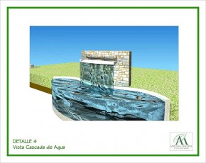 Detalle Caída de Agua en Piscina