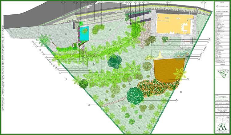 Proyecto jard n residencial casa rr adriana mirabal for Caminerias de jardin