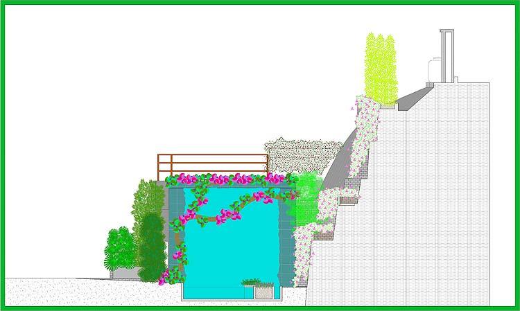 Proyecto jard n residencial casa rr adriana mirabal for Construccion de piletas de agua