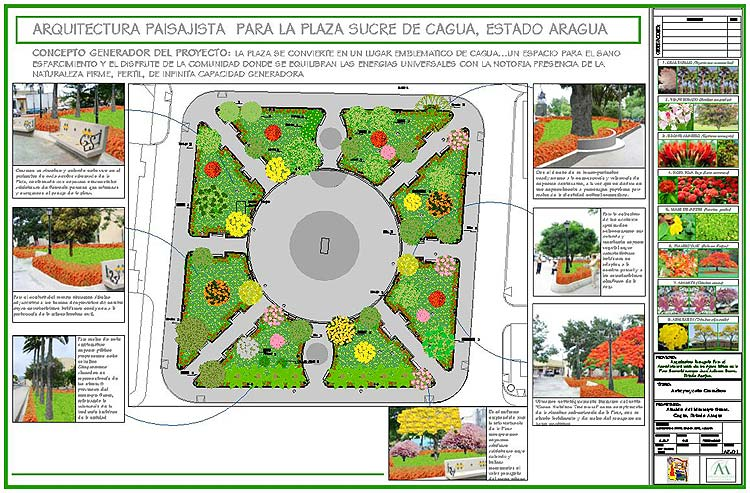 Proyecto Plaza Sucre De Cua Adriana Mirabal Paisajismo
