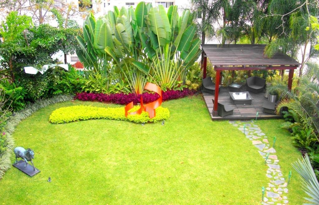 Jard n residencial sobre losa elevada quinta kalapa - Diseno de jardines fotos ...