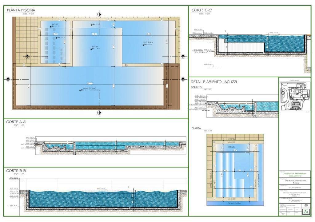 Proyecto jard n residencial casa z adriana mirabal for Planos estructurales de piscinas
