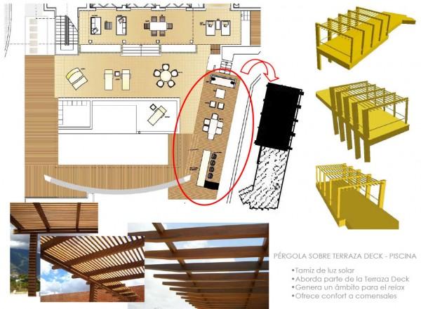 Proyecto Deck y Pérgola en Área de Piscina. Casa Z