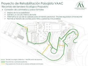Recorrido del sendero ecológico VACC