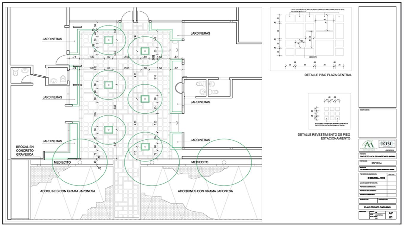 Anteproyecto reas libres centro comercial piedemonte for Planos de obra civil
