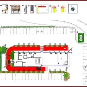 Proyecto de Arquitectura Paisajista Mc Donald's Guatire