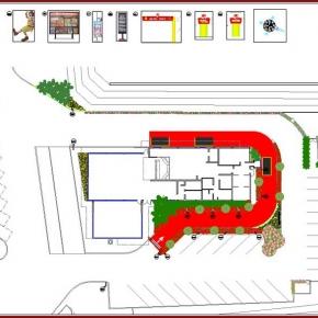Proyecto de Arquitectura Paisajista Mc Donald's San Antonio