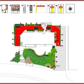 Proyecto de Arquitectura Paisajista Mc Donald's Santa Fé