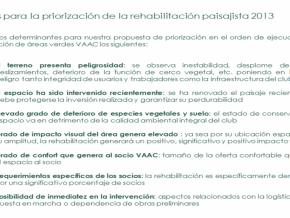 Criterios De Priorizacion De Las Rehabilitaciones Paisajista VACC - 2013